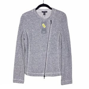NWT Eileen Fisher Twisted Terry Moto Jacket PS